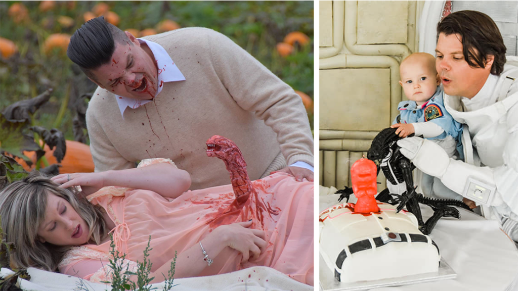 Couple Follows Up Alien Maternity Shoot by Celebrating His First Birthday