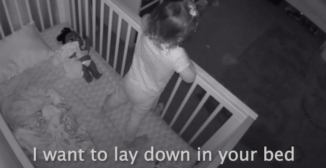 Brother Helps Sister out of Crib