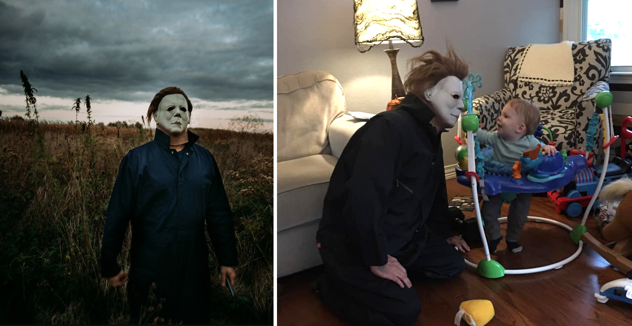 Dad Dresses as Michael Myers