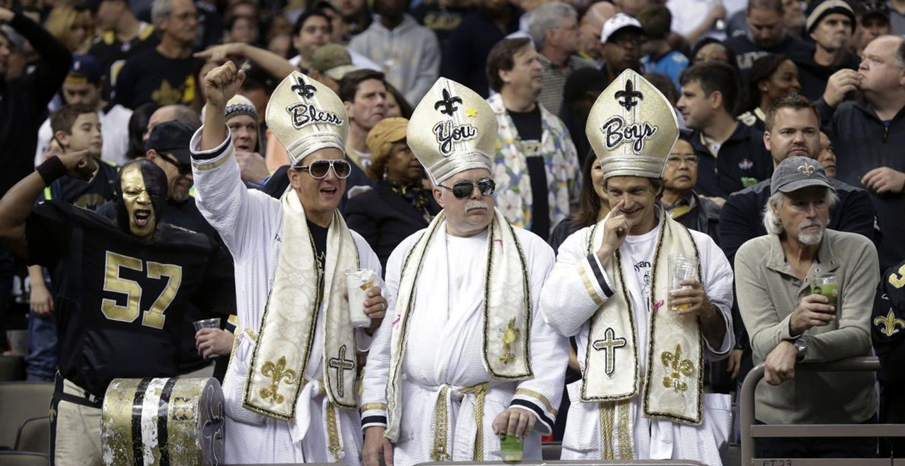 Pope Blesses New Orleans Saints