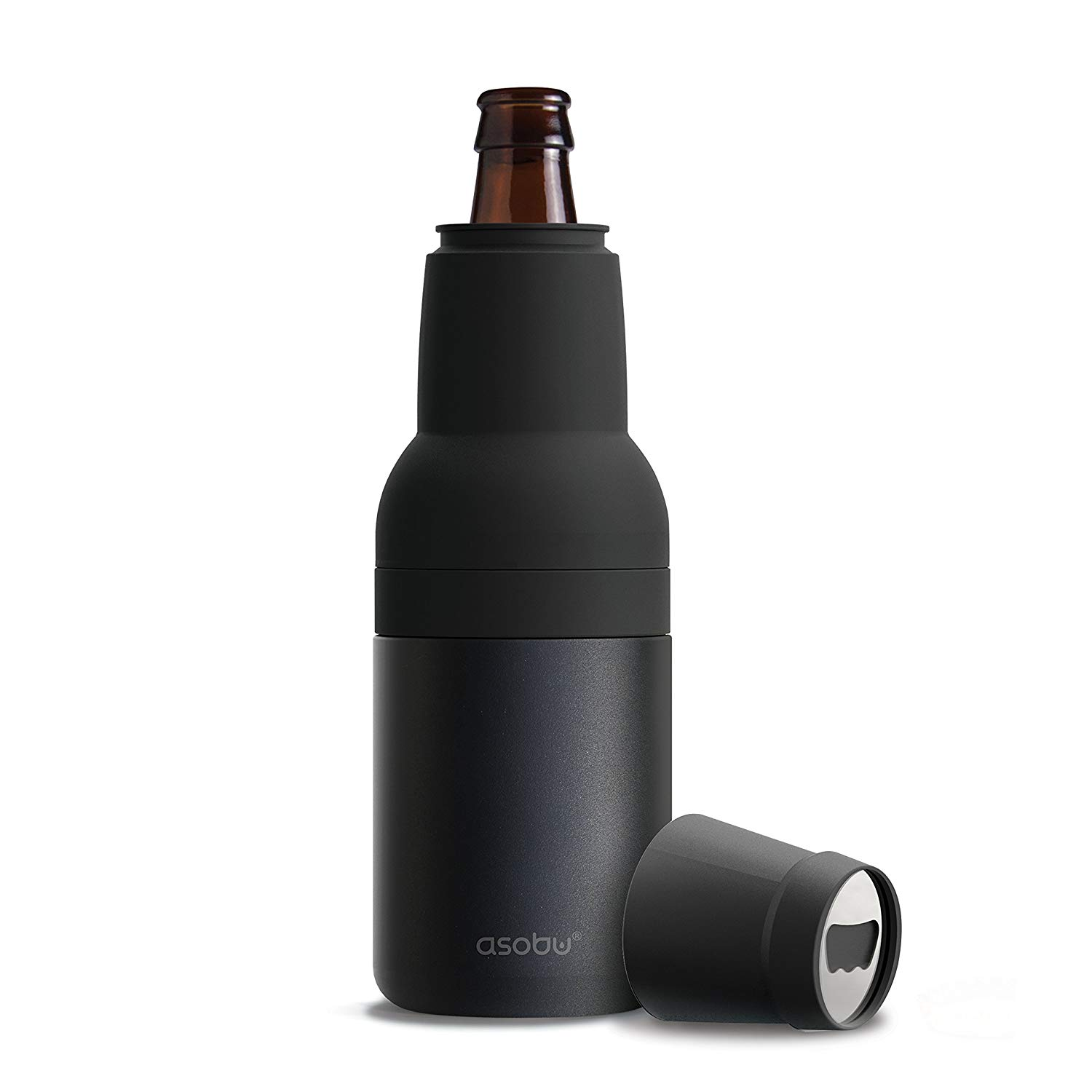 Asobu Frosty Beer 2 Go Vacuum Insulated Double Walled Stainless Steel Beer Bottle and Can Cooler