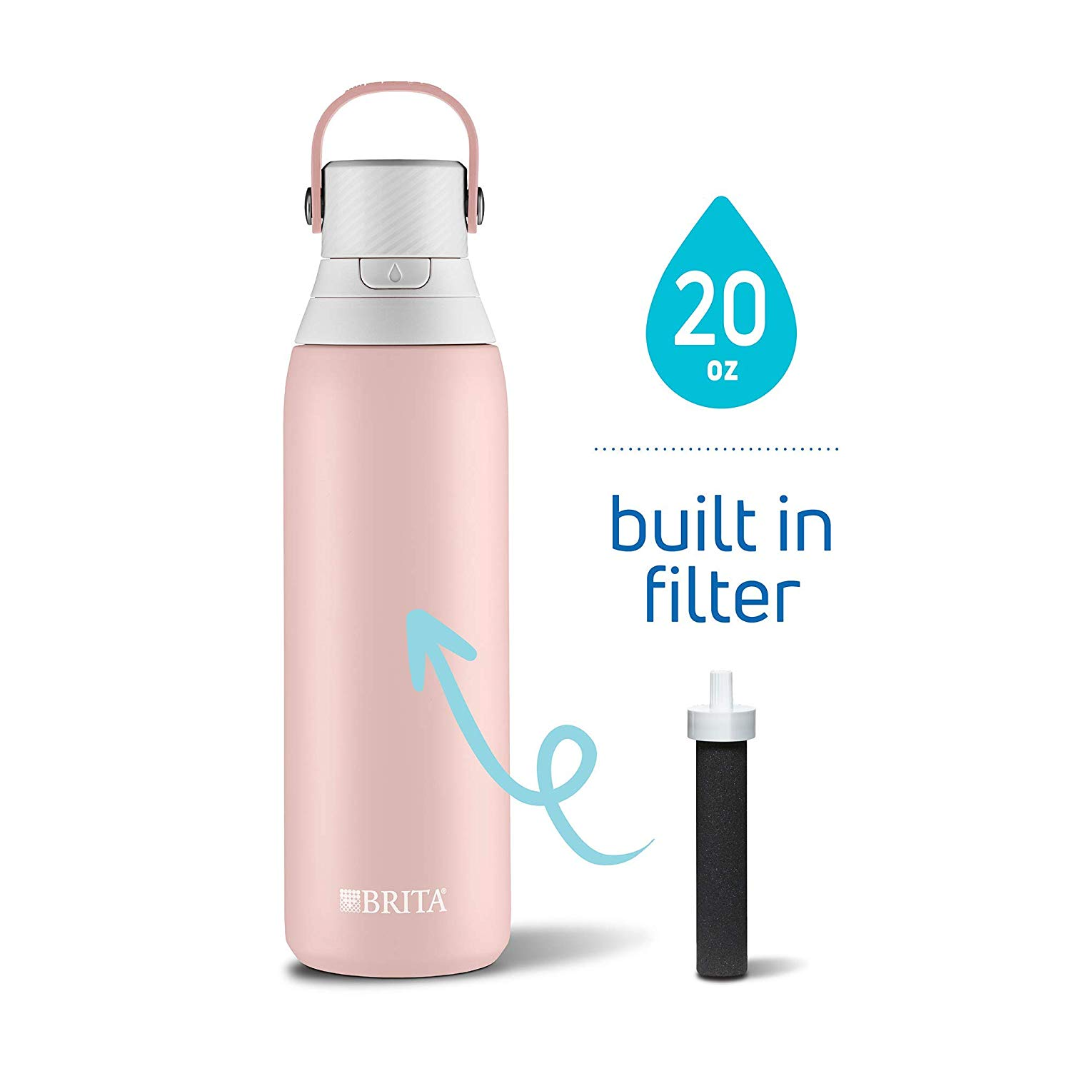 Brita 20 Ounce Premium Filtering Water Bottle- best gifts for moms