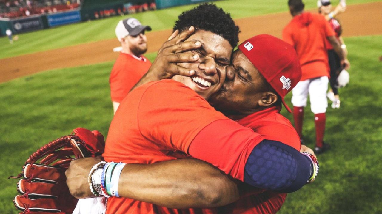 Juan Soto Hugs Dad