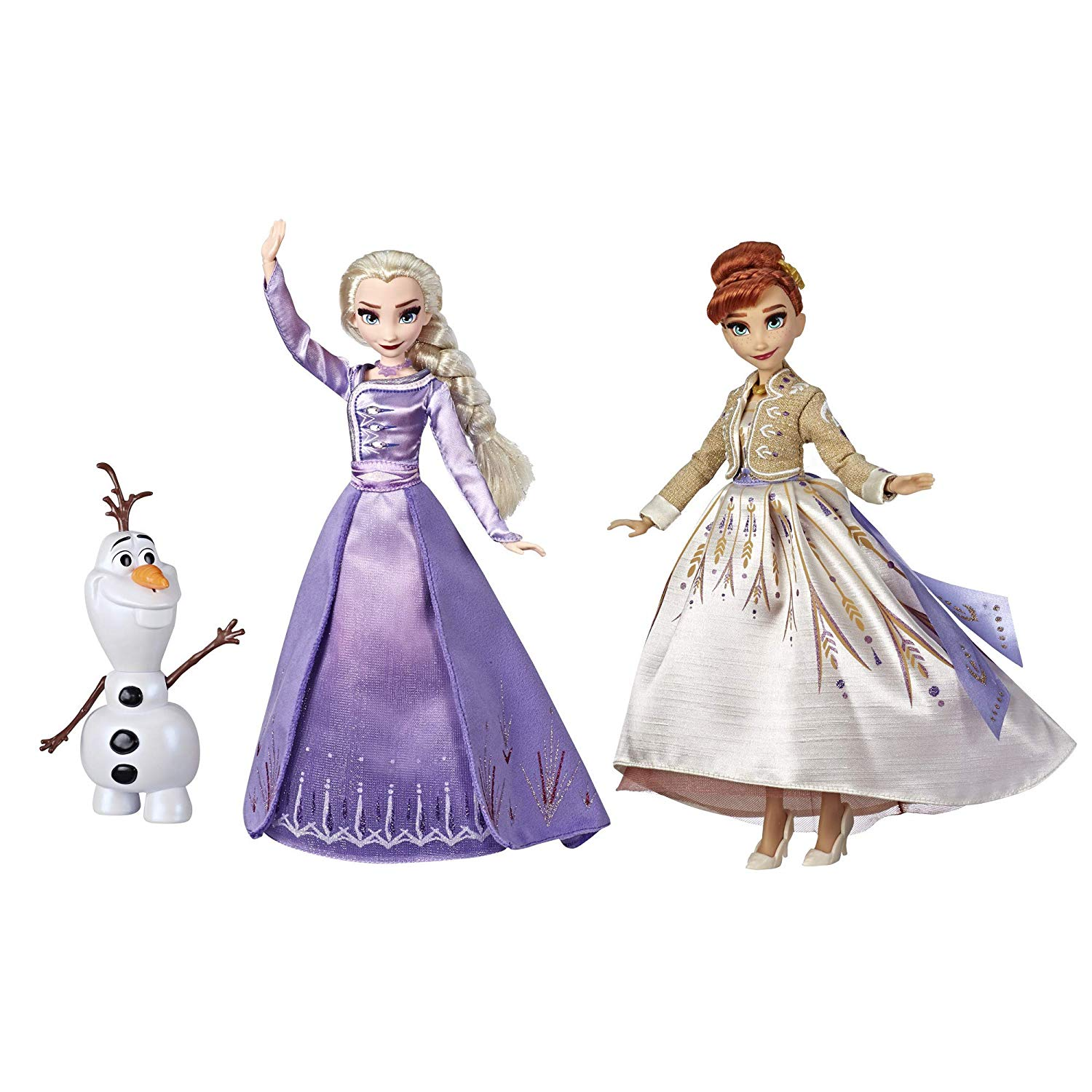 Frozen Disney Elsa, Anna, & Olaf Deluxe Fashion Doll Set- best gifts for kids