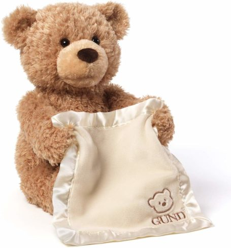 GUND Peek-A-Boo Teddy Bear Animated Stuffed Animal Plush-best gifts for kids