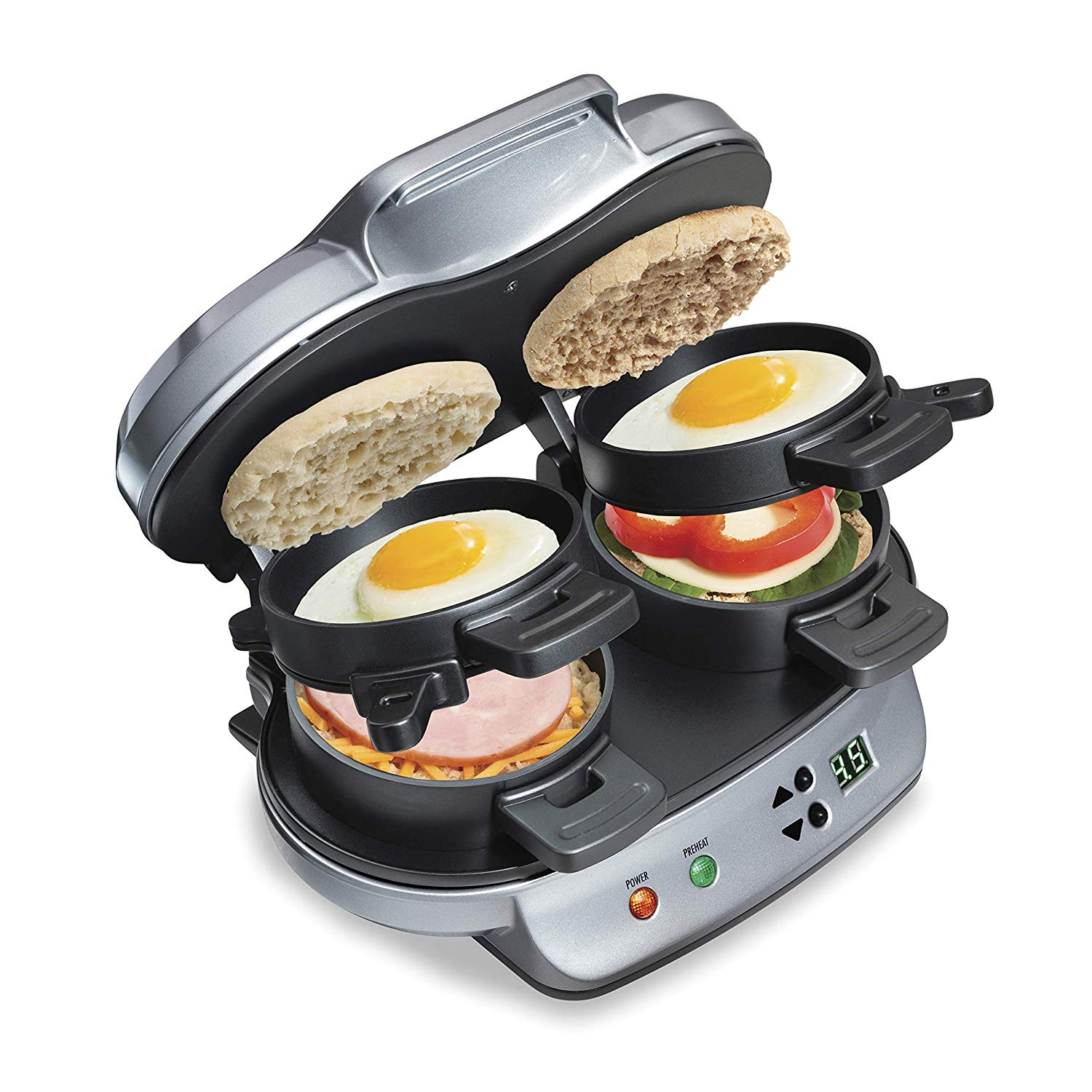 Hamilton Beach Dual Breakfast Sandwich Maker with Timer- best gifts for moms