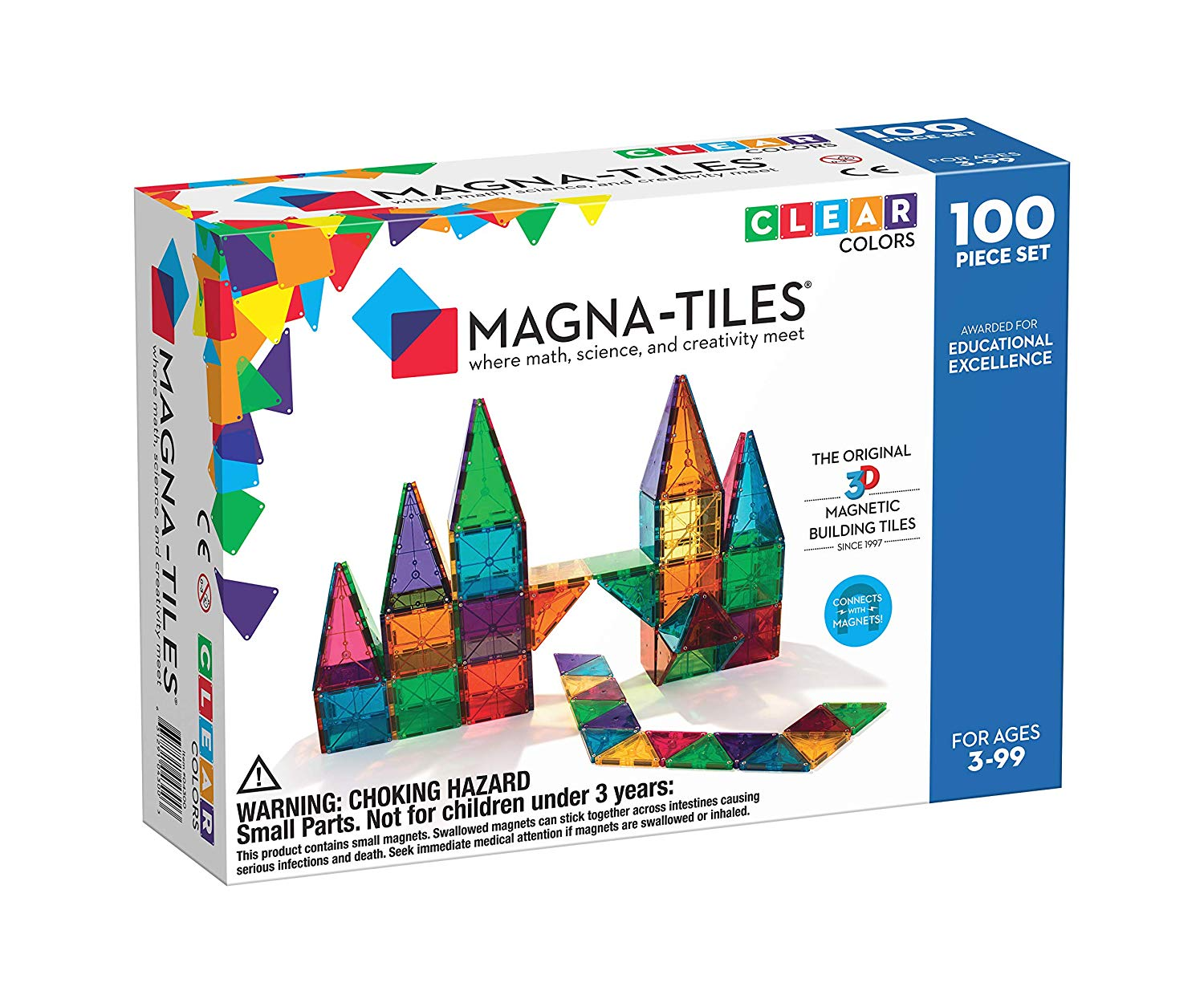 Magna-Tiles Clear Colors 100 Piece Set- best gifts for kids