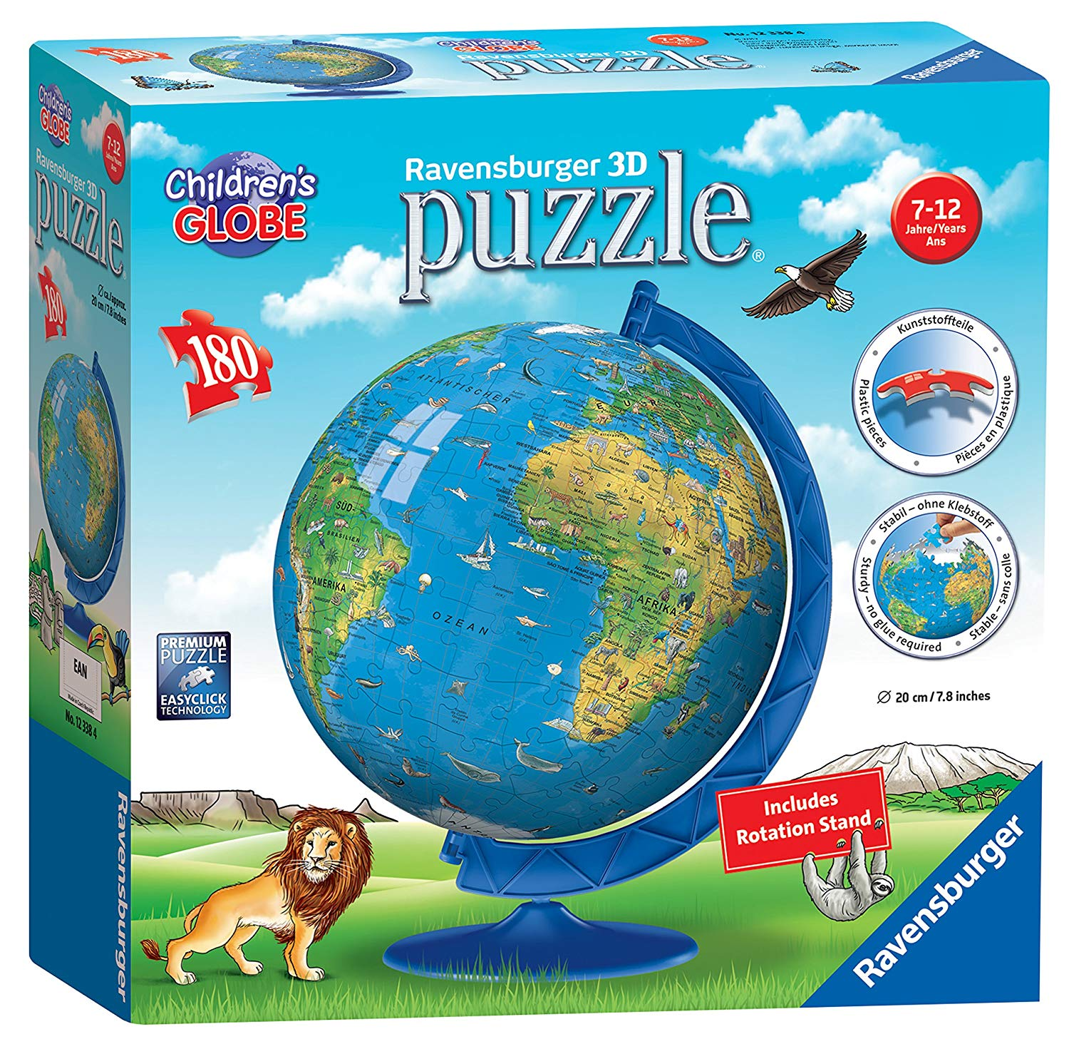 Ravensburger Children's 180 Piece 3D Globe Jigsaw Puzzle