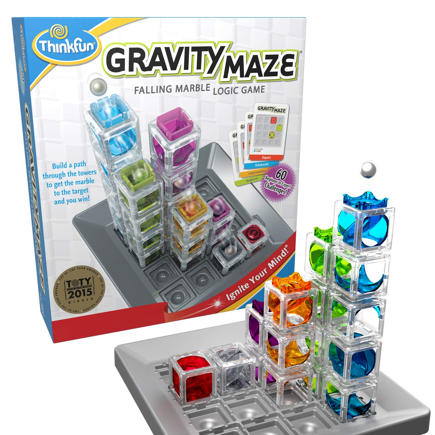 ThinkFun Gravity Maze Falling Marble Logic Game- best gifts for kids