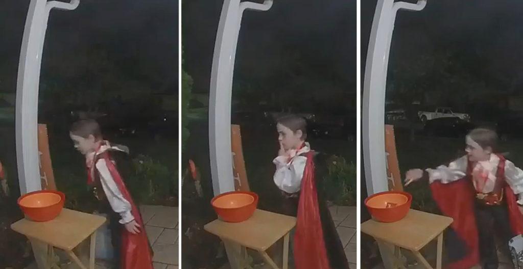 Boy Refills Empty Candy Bowl