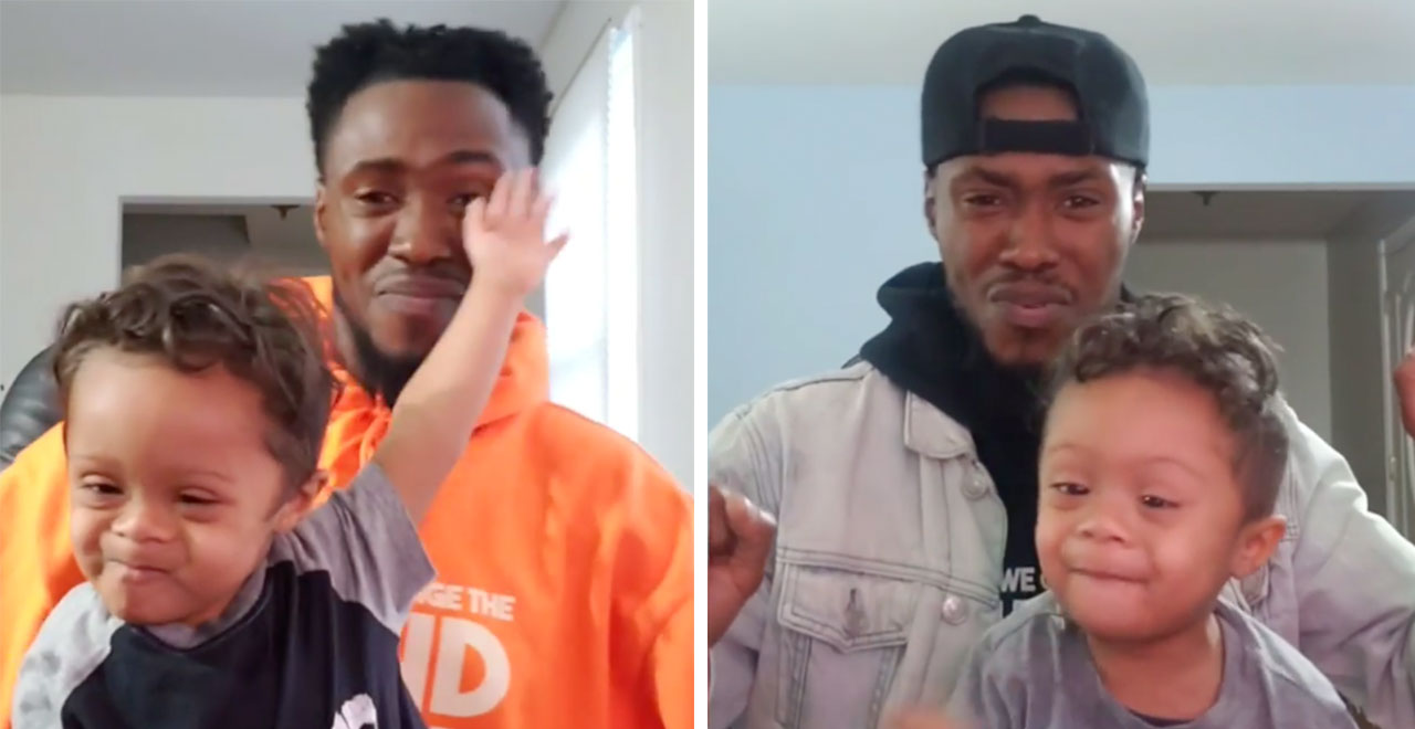 Father and son dance to celebrate toddler's cancer-free diagnosis