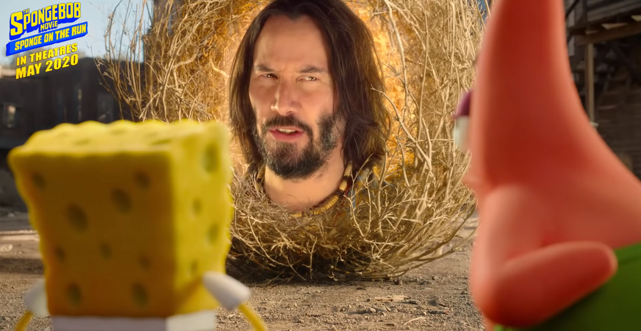 Keanu's Head in SpongeBob