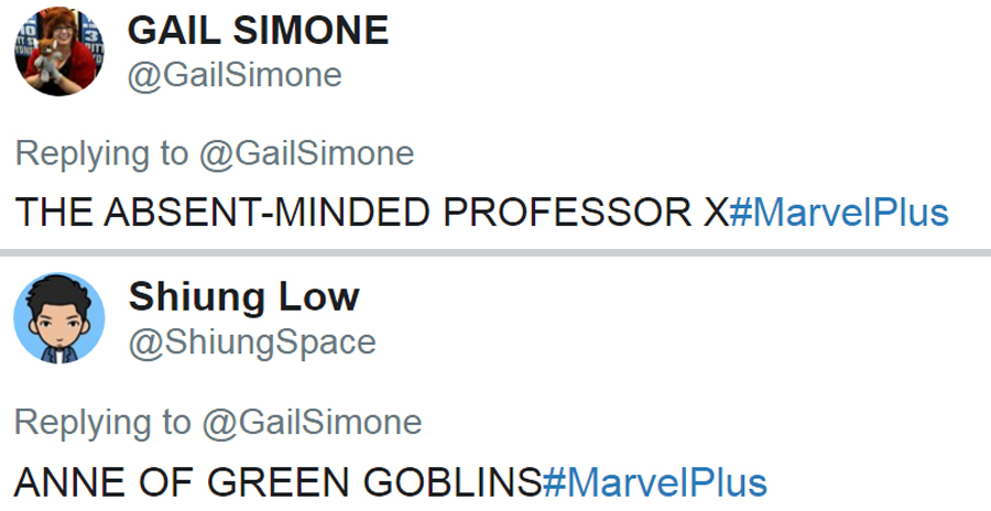 Make Believe Marvel Plus Titles