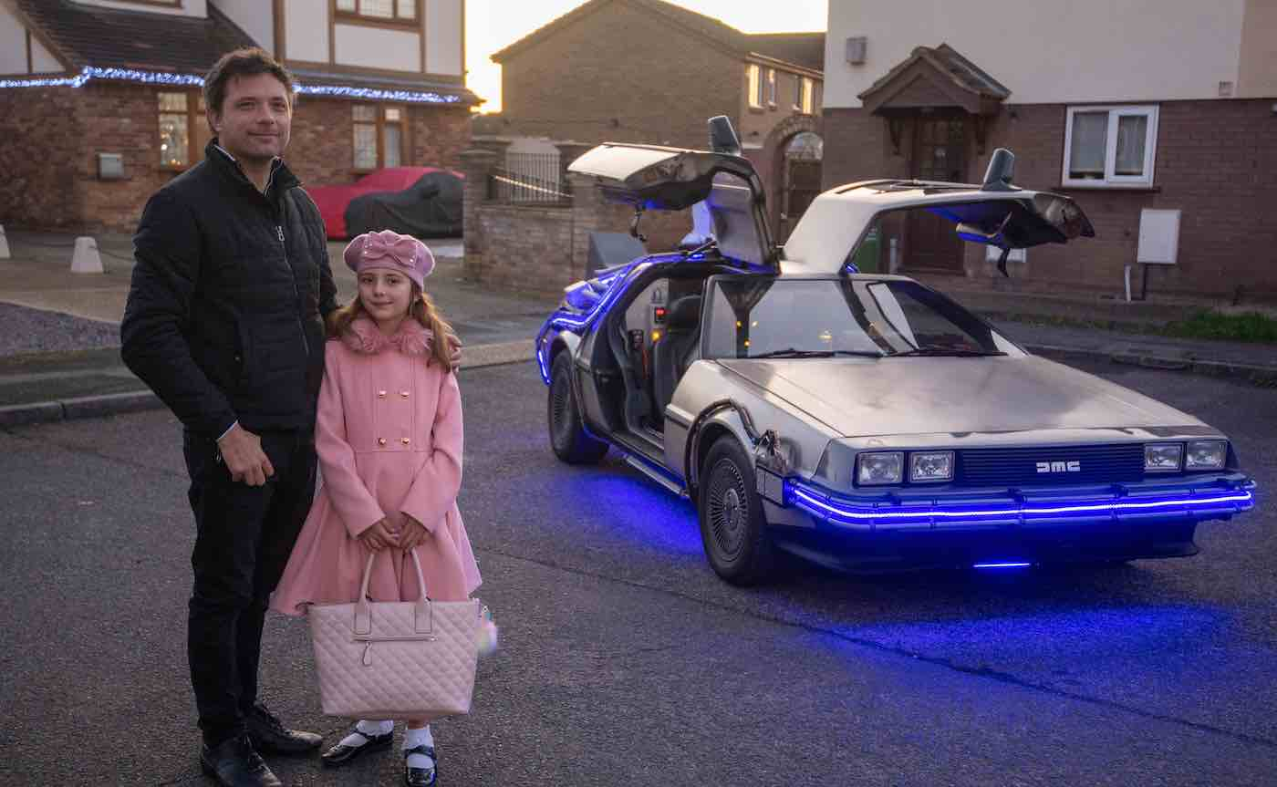 Dad Restores Delorean