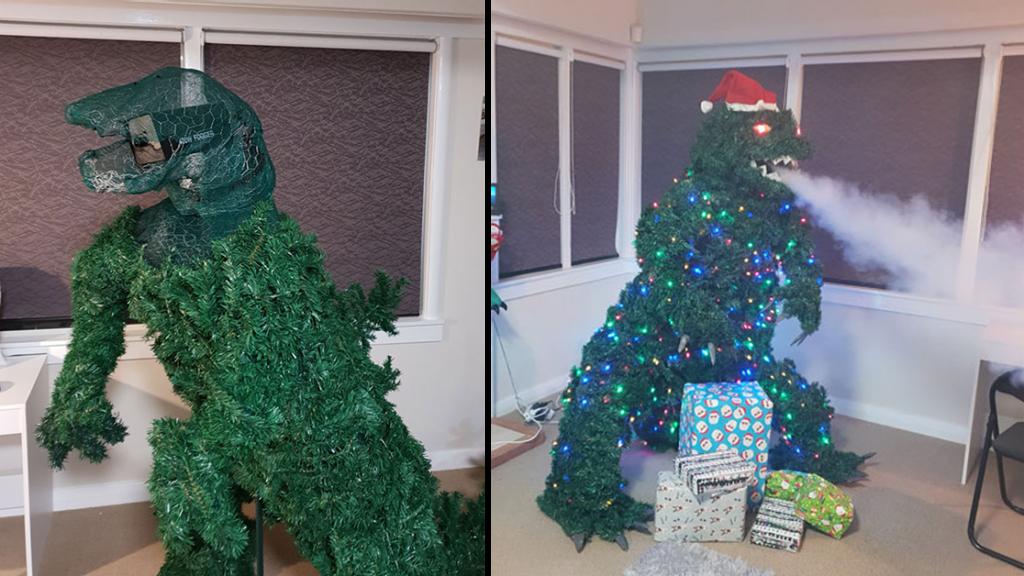 Dad's Treezilla Christmas Tree