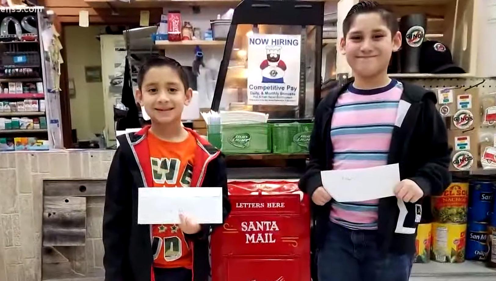 Deli Owners Santa Mailbox