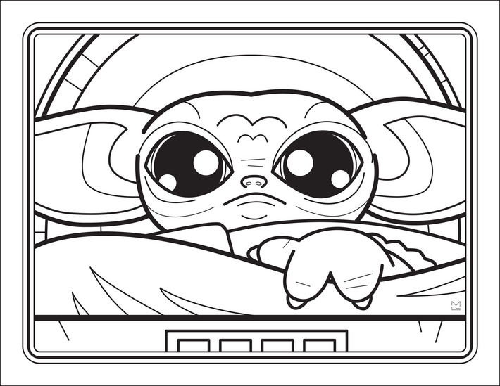 Download This Free Baby Yoda Coloring Book Right Now