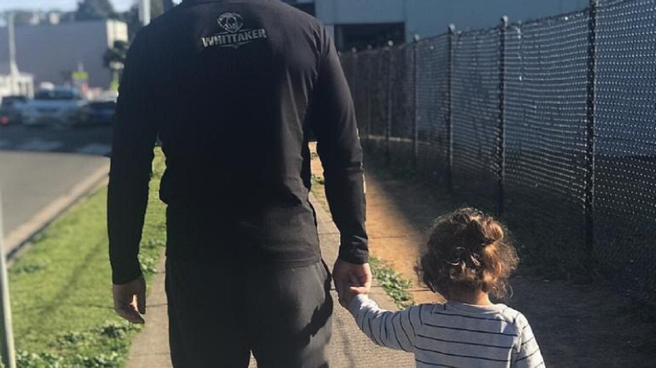 Robert Whittaker and Daughter