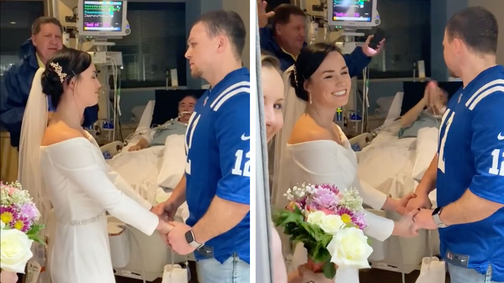 Shelby and Jared Conville married in ICU