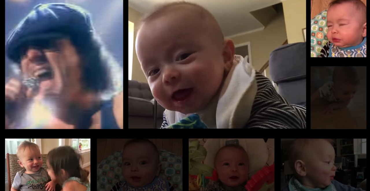 Baby Sounds Turned into Thunderstruck