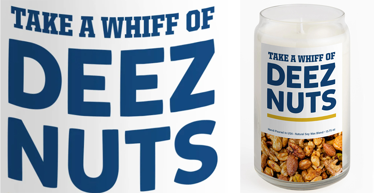 Deez Nuts Scented Candle