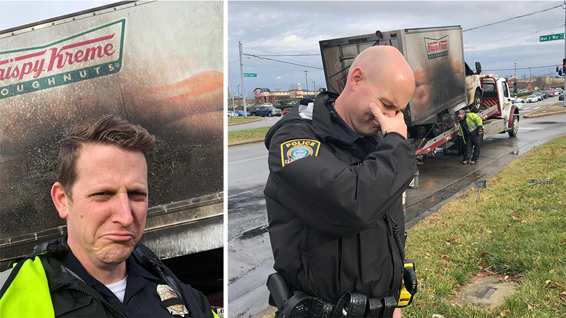 Police Mourn Loss of Donut Truck