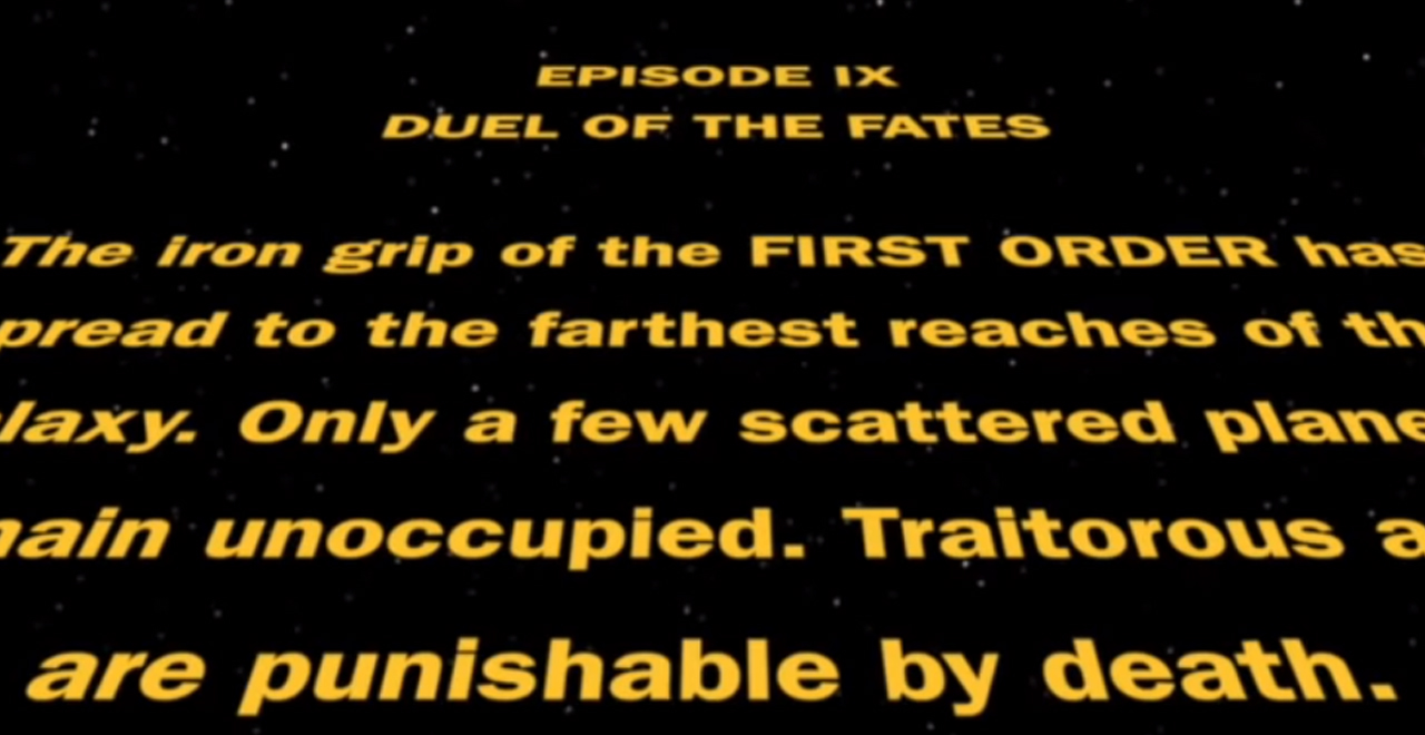 Star Was IX Duel of the Fates