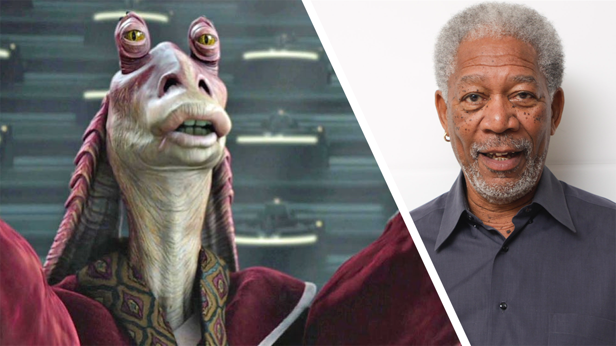 Morgan Freeman Voices Jar Jar Binks