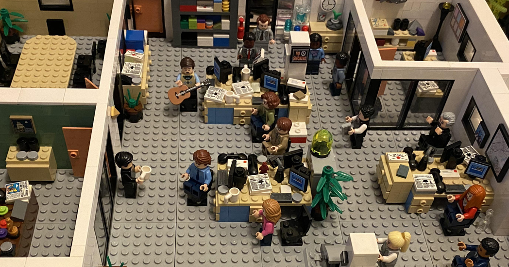 Dunder Mifflin Lego Recreation