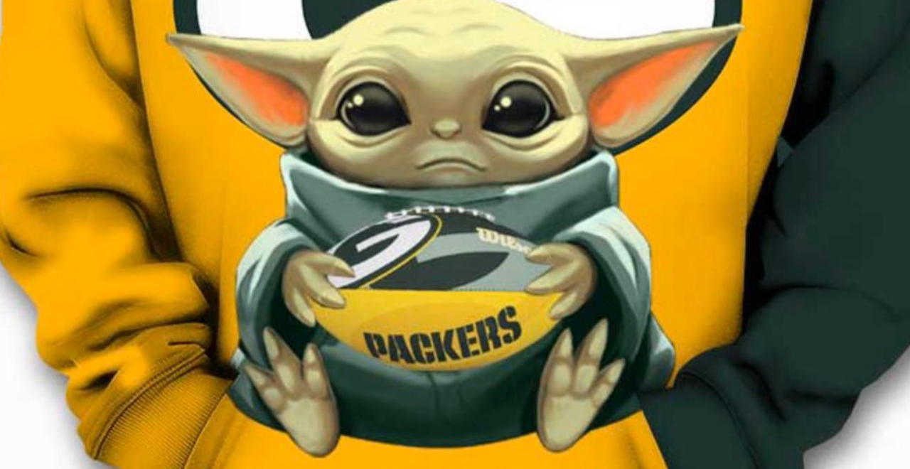 Baby Yoda as Packers Fan