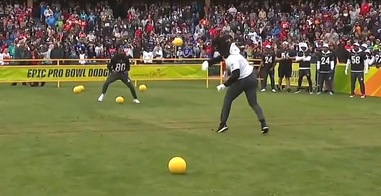 Jarvis Landry Dominates Dodgeball