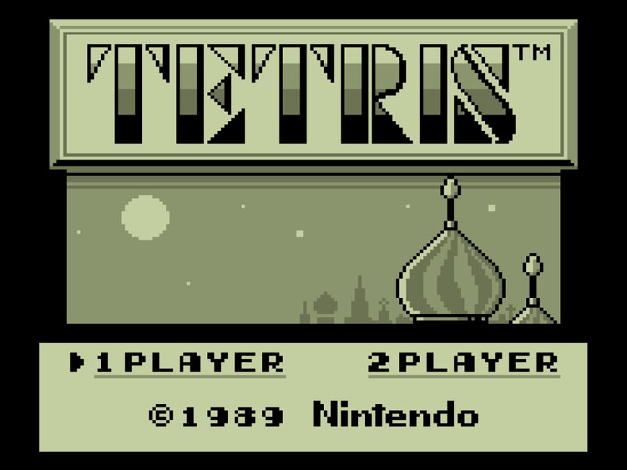Game Boy Tetris Title Screen