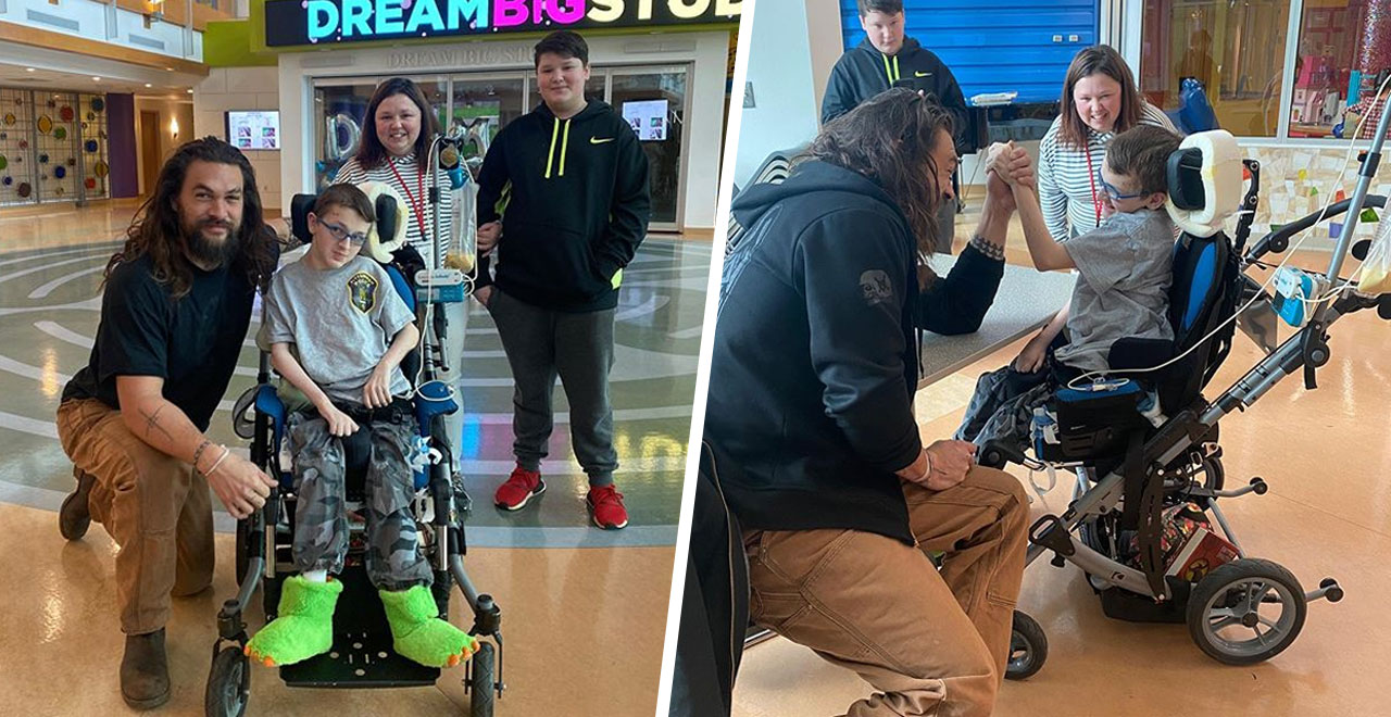Actor Jason Momoa gives back at PA Children's Hospital