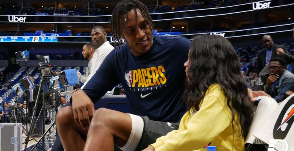 Myles Turner and A'Myah Moon