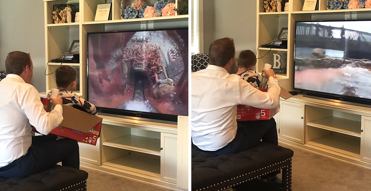 Dad Makes up for Canceled Disney Trip With DIY Splash Mountain Ride