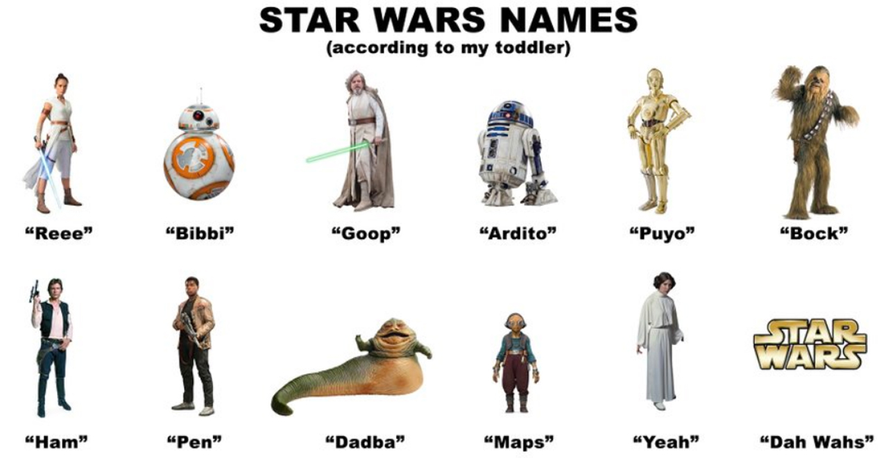 Toddler Renames Star Wars Characters