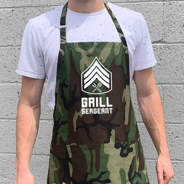 funny grilling aprons for men: grill sergeant