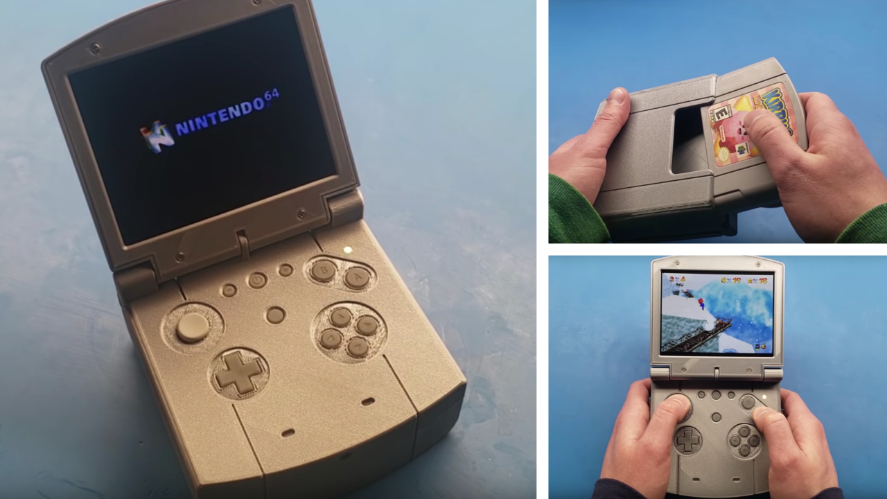 This Pocket-Sized Nintendo 64 is Modeled After a Game Boy Advance SP