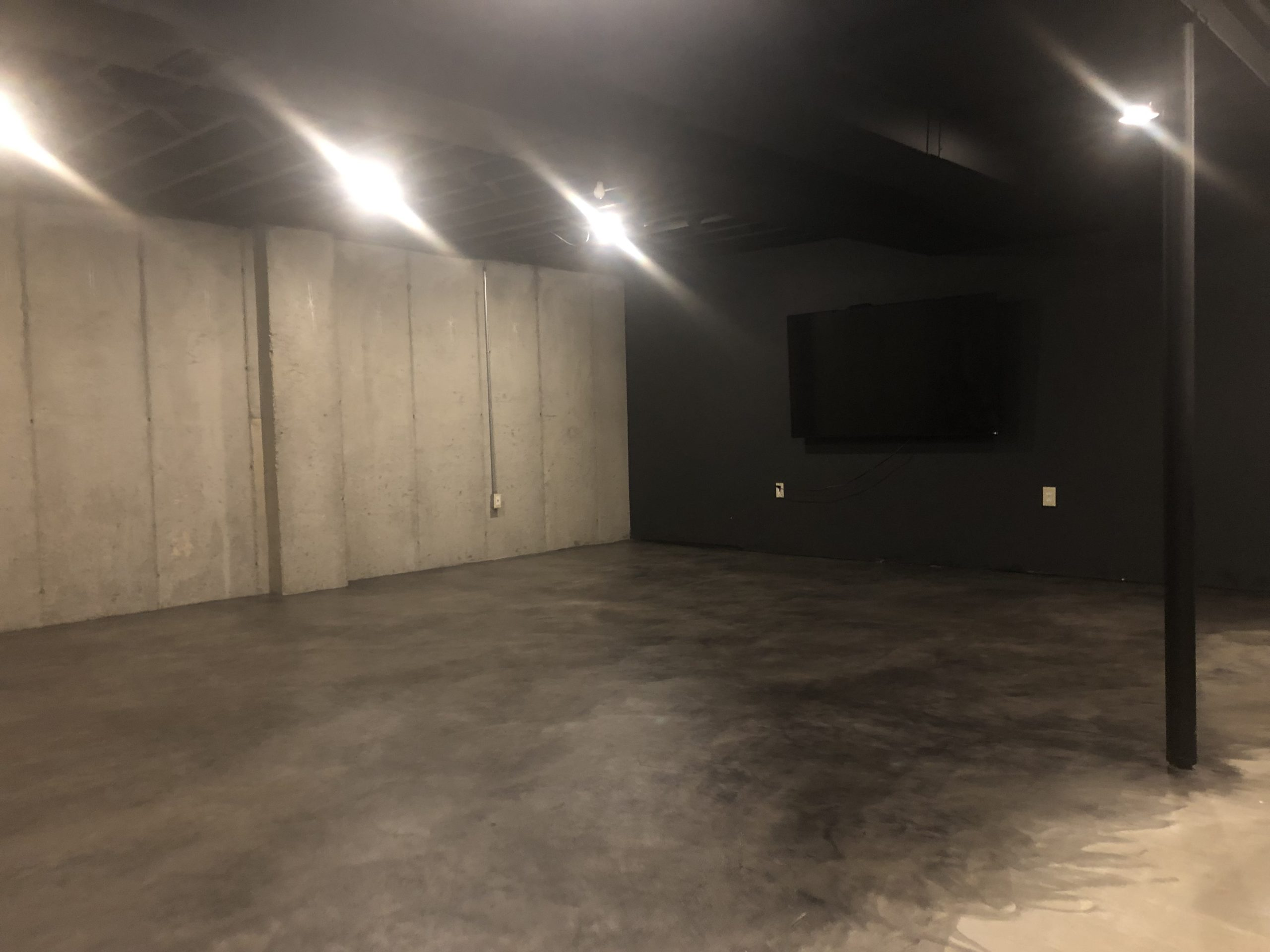 After second coat: how to stain concrete floors - diy basement upgrade for cheap