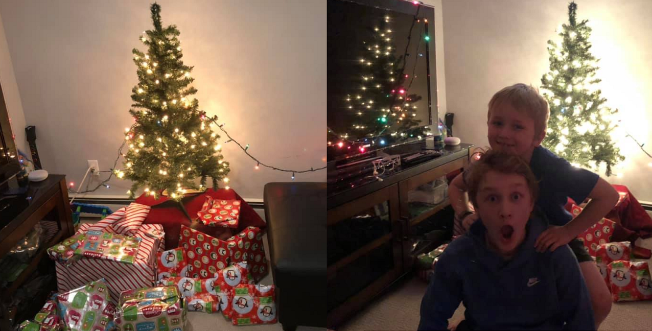 Dad Surprises Kids With Quarantine Christmas