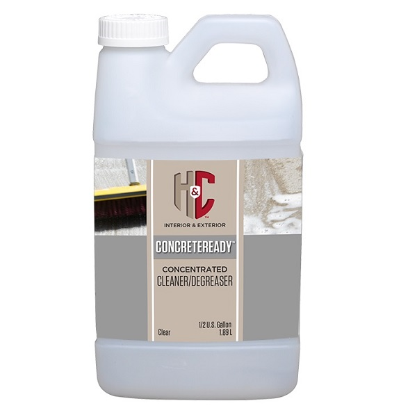 best products for staining concrete floors: H&C ConcreteReady Cleaner/Degreaser