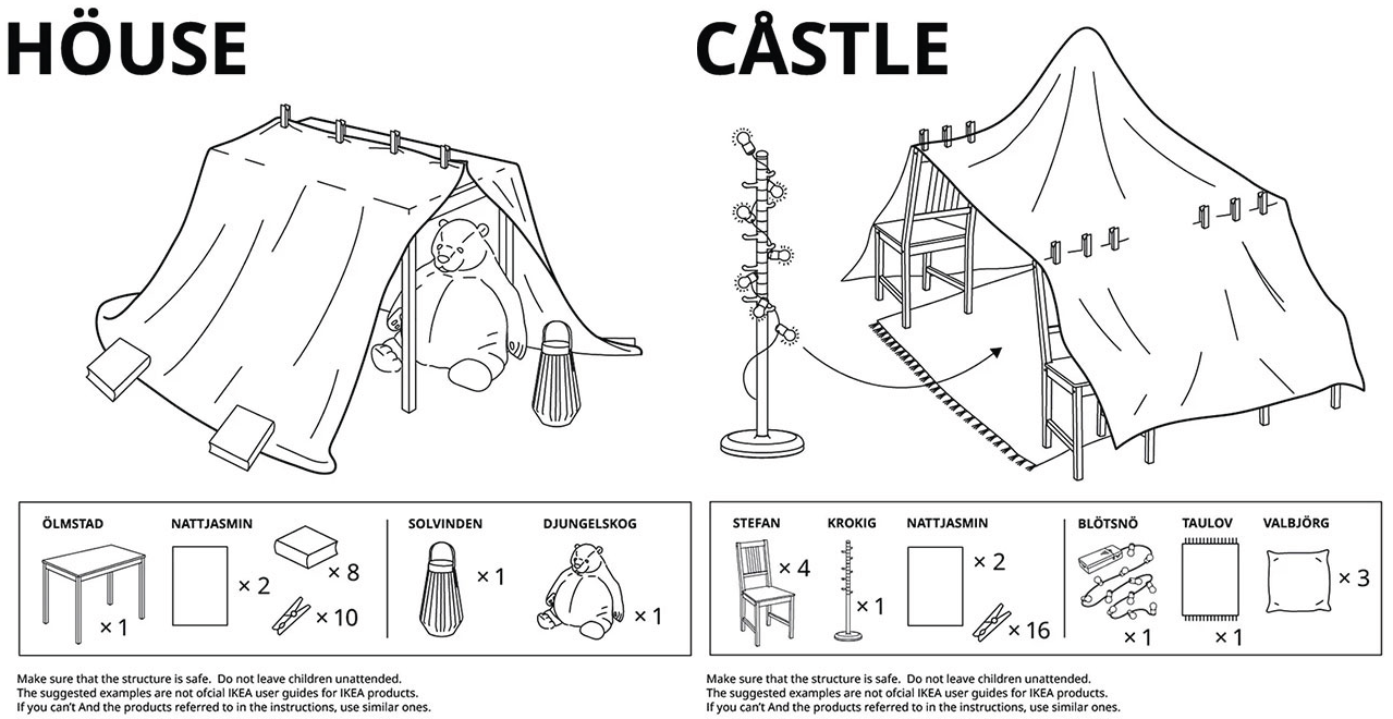 IKEA Put Together 6 Guides to Fort Building During Quarantine Life
