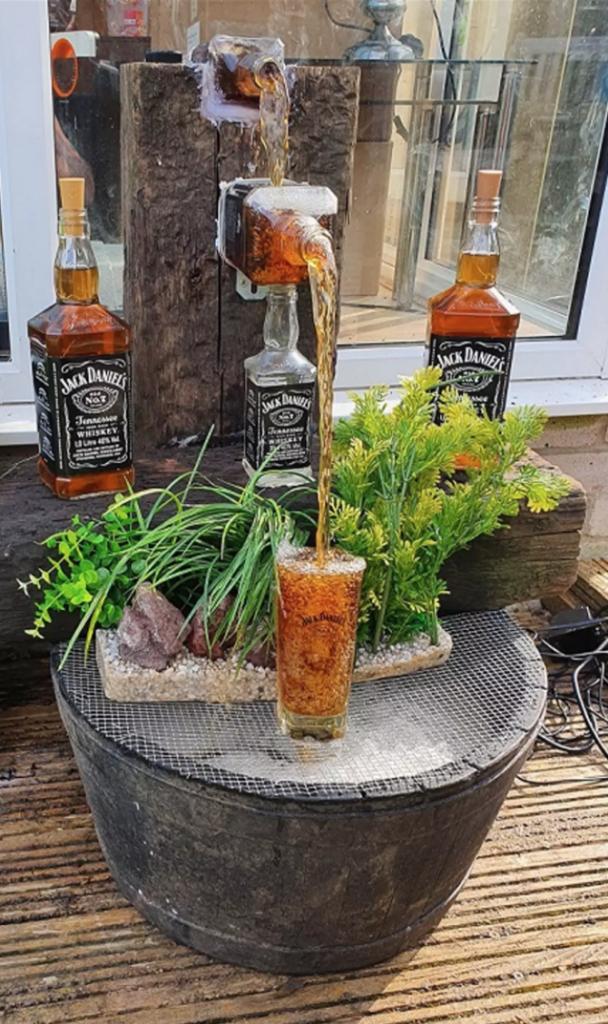 Drunk Dude DIYs a Jack Daniels Waterfall