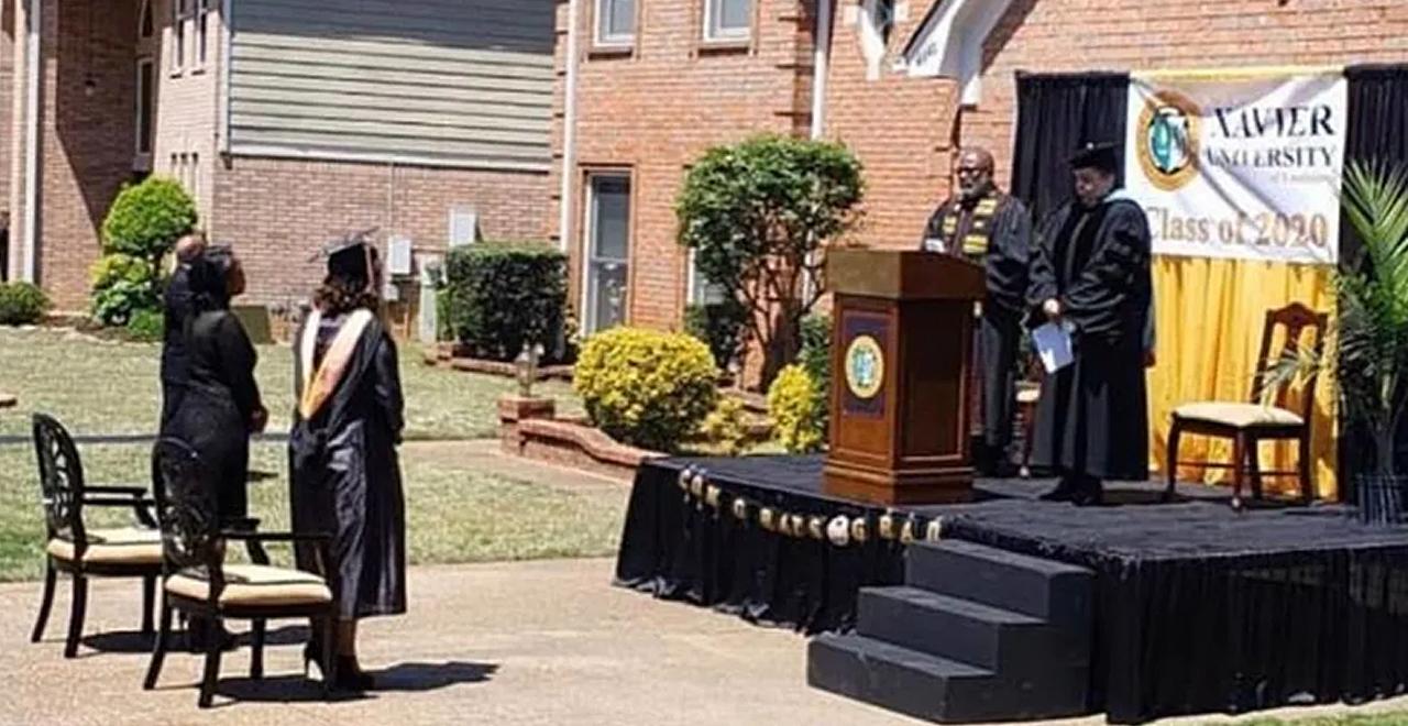 Driveway Graduation Ceremony