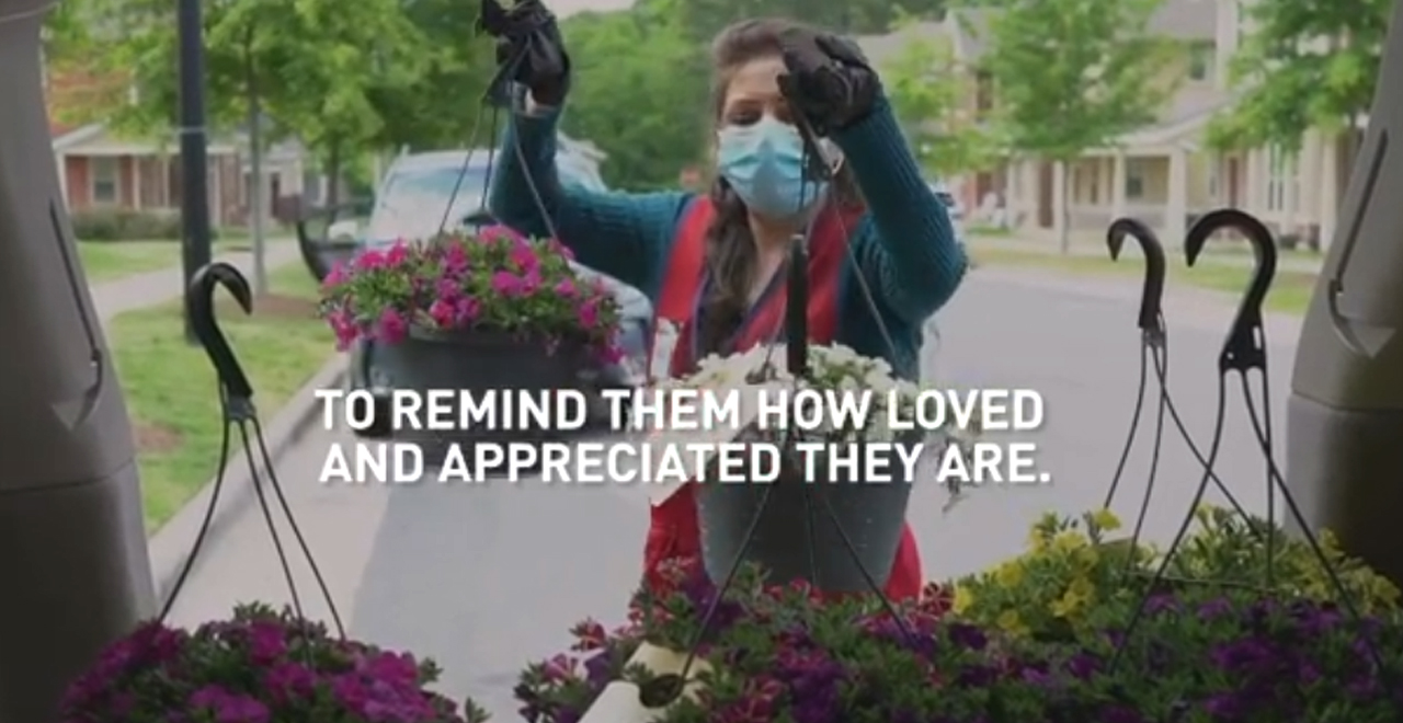 Lowes Donates Flowers