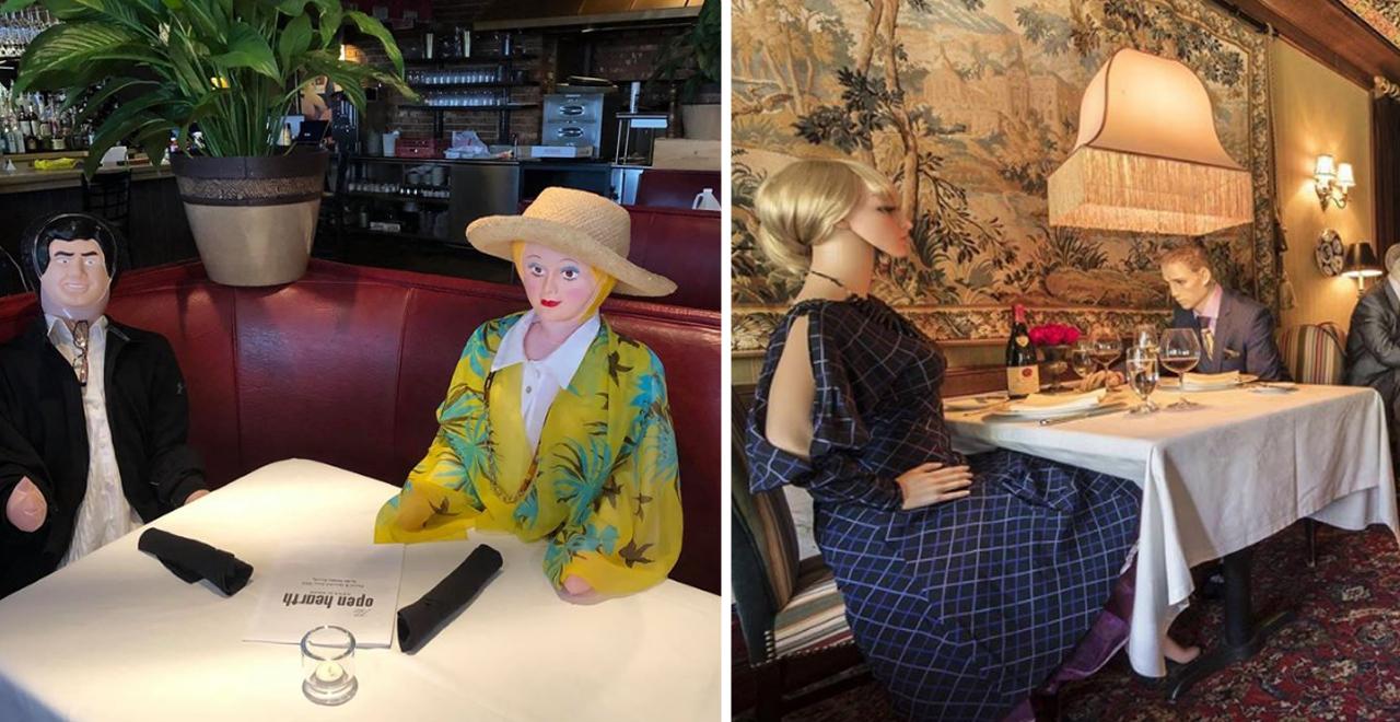 Restaurant Blow Up Dolls and Mannequins