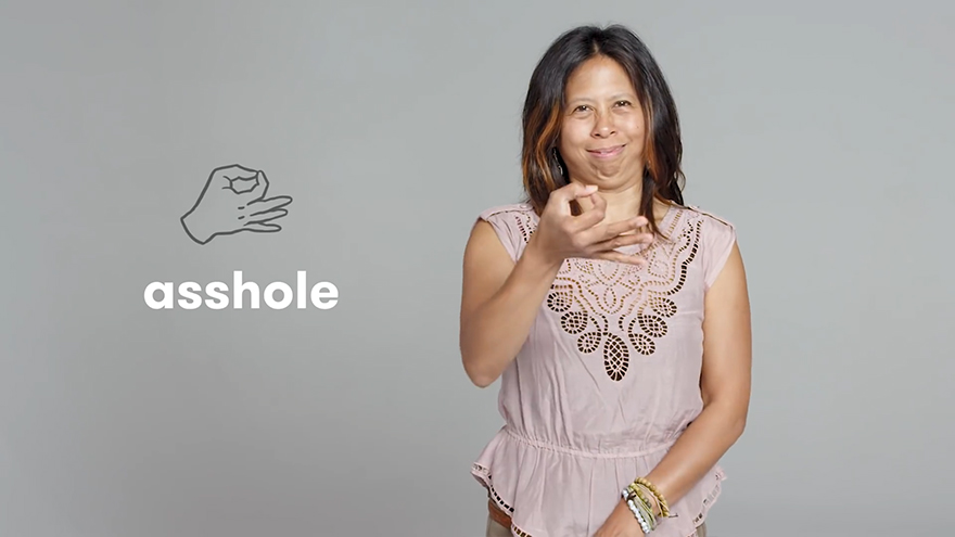 """Asshole"" in Sign Language"