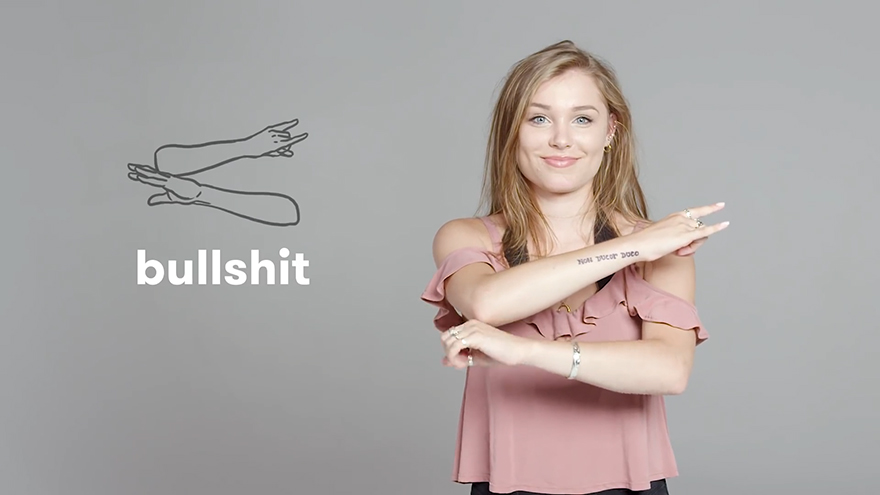 """Bullshit"" in Sign Language"