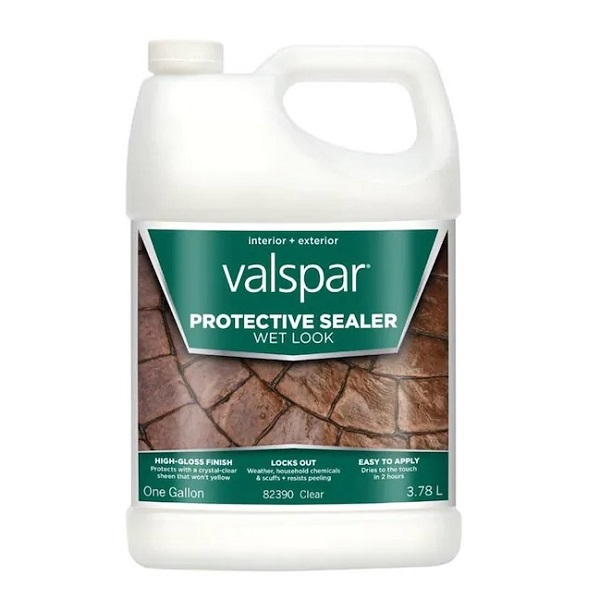 Best products for DYI staining concrete floors: Valspar Clear Acrylic Concrete Sealer