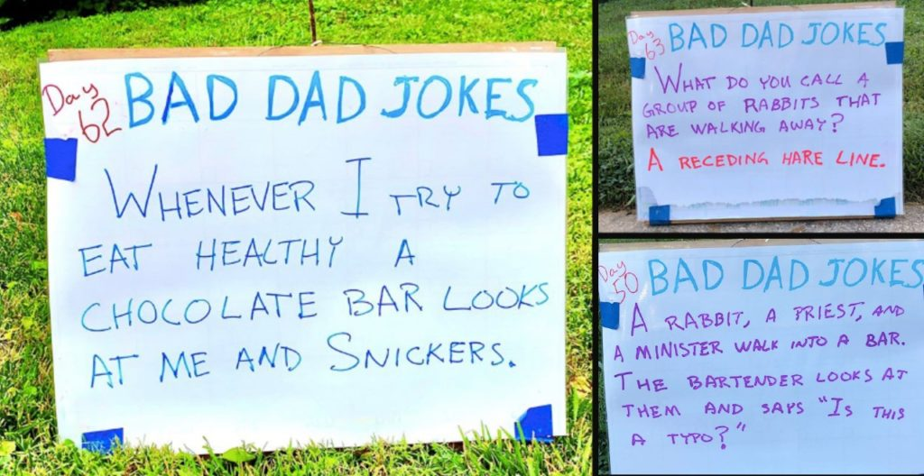 """Tom's """"Bad Dad Jokes"""" Provide Some Much-Needed Groan-Laughs"""